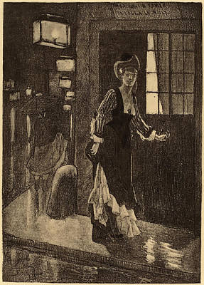1833 Drawing - Félicien Rops Belgian, 1833 - 1898, Le Rydeack by Quint Lox