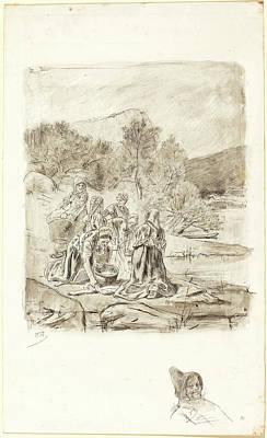 Félicien Rops Belgian, 1833-1898, Washerwomen Art Print