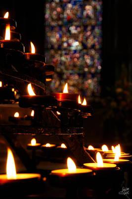 Photograph - Flickering Prayers by Lisa Knechtel