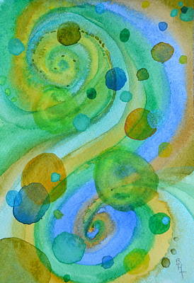 Centering Painting - Flight 319 by Beverley Harper Tinsley