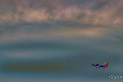 Jet Photograph - Flight 709 by Brian Lea