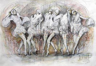Flight Dancers Art Print by Gregory DeGroat