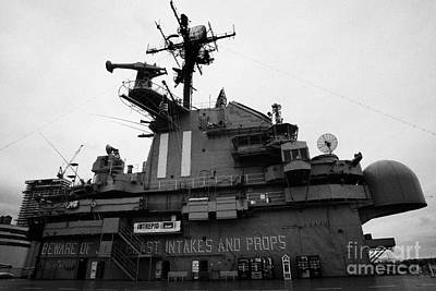 Flight Deck Island And Bridges Of The Uss Intrepid At The Intrepid Sea Air Space Museum  Art Print by Joe Fox