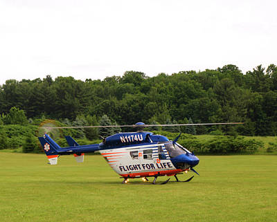 Medical Helicopter Photograph - Flight For Life by Thomas Young