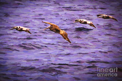 Brown Painting - Flight Formation by David Millenheft
