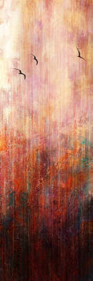 Art Print featuring the painting Flight Home - Abstract Art by Jaison Cianelli