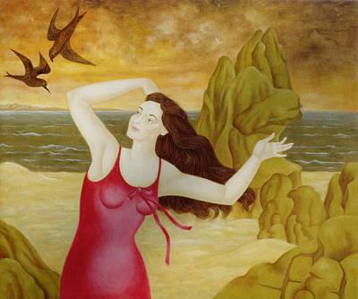 Sea Birds Painting - Flight II, 1998 by Patricia O'Brien
