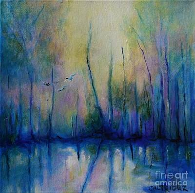 Painting - Flight In Morning Symphony by Alison Caltrider