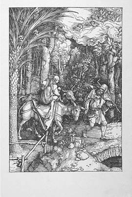 Digital Art - Flight Into Egypt by Albrecht Durer