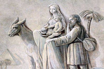 Oratory Photograph - Flight Into Egypt At Joseph Oratory by Munir Alawi