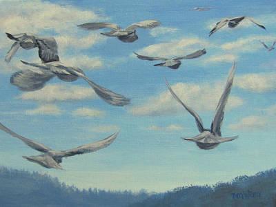 Painting - Flight by Karen Ilari