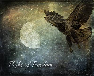 Moon Rise Poster Photograph - Flight Of Freedom - Image Art by Jordan Blackstone