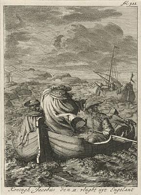 Flight Of King James II, 1688, Jan Luyken Print by Jan Luyken And Jan Claesz Ten Hoorn