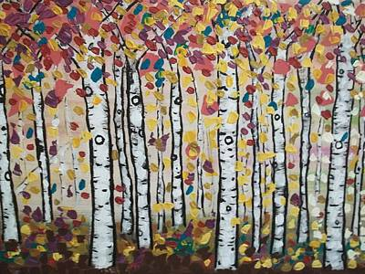 Painting - Flight Of Leaves by Shirley Smith