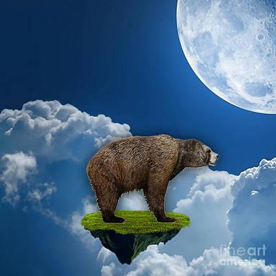 Polar Bear Mixed Media - Flight Of The Bear. by Marvin Blaine