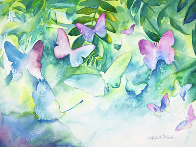 Painting - Flight Of The Butterflies by Michelle Wiarda