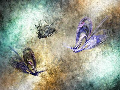 Flight Of The Butterfly Art Print by Sharon Lisa Clarke