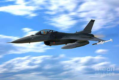 F-16 Photograph - Flight Of The Falcon by Olivier Le Queinec