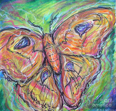 Painting - Flight Of The Moth by M C Sturman