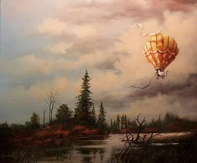 Flight Of The Swan 2 Art Print by Tom Shropshire