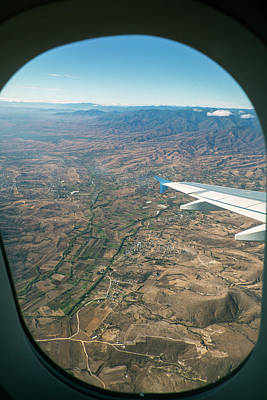 Passenger Plane Photograph - Flight Over Oaxaca by Jim West