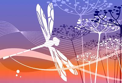 Digital Art - Flight Pattern 1 by Angelina Tamez