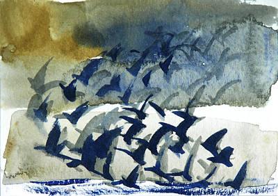Painting - Flight Pattern 2-16-15 By Julianne Felton by Julianne Felton