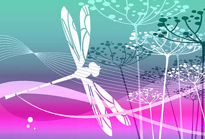 Digital Art - Flight Pattern 3 by Angelina Vick