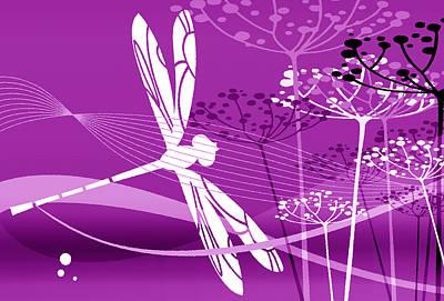 Digital Art - Flight Pattern Magenta by Angelina Tamez