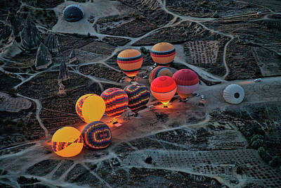 Hot Air Balloon Photograph - Flight Preparation by Ayse Yorgancilar