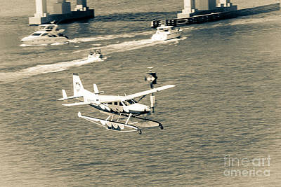 Flight- Landing In The Bay Art Print by Rene Triay Photography