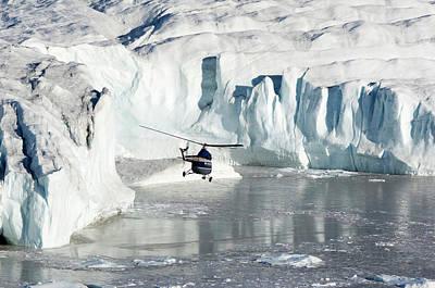 Transformed Photograph - Flight-seeing Over Wordie Glacier by Daisy Gilardini