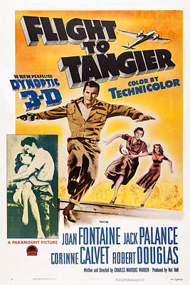 Jack Palance Photograph - Flight To Tangier, Us Poster, Embracing by Everett