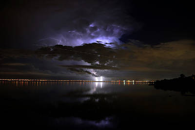 Heat Lightning Photograph - Flights Of Light by David Lee Thompson