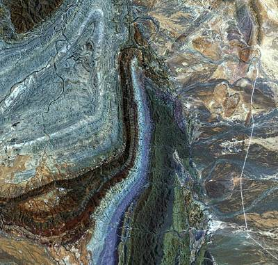 Satellite Image Photograph - Flinders Ranges by Jaxa/european Space Agency