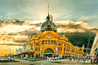 Flinders St Station Art Print by Az Jackson