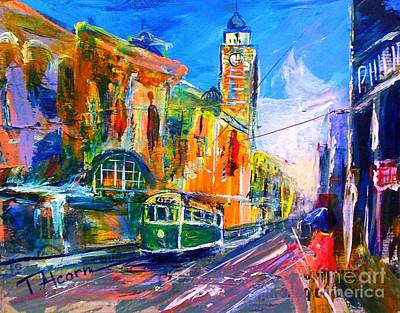 Flinders Street - Original Sold Art Print by Therese Alcorn