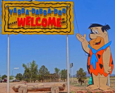 Flinstones Photograph - Flinstones Bedrock City In Arizona by Dan Sproul