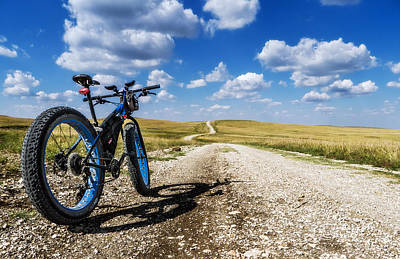 Photograph - Flint Hills Fall Fatbike Ride by Eric Benjamin