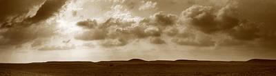 Flint Hills Of Kansas Photograph - Flint Hills Panorama by Thomas Bomstad