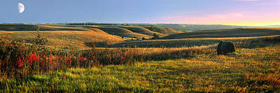 Panoramic Photograph - Flint Hills Shadow Dance by Rod Seel