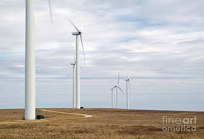 Photograph - Flint Hills Turbines by Fred Lassmann