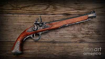 Flintlock Blunderbuss Pistol Art Print by Paul Ward