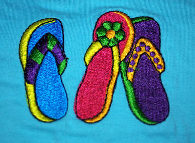Photograph - Flip Flop Fun Three by Caroline Stella