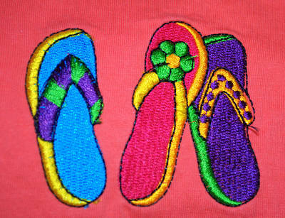 Photograph - Flip Flop Fun Two by Caroline Stella