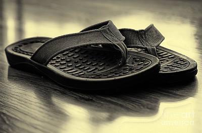 Photograph - Flip Flops On Hardwood Floor by Danny Hooks