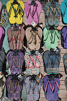 Flip Flops Art Print by Peter Tellone