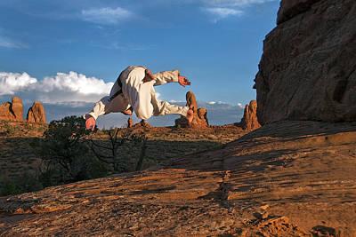 Flip In Arches Art Print by Nichon Thorstrom
