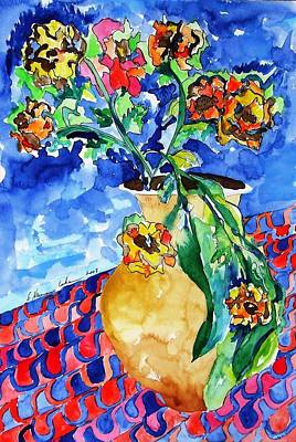 Painting - Flip Of Flowers by Esther Newman-Cohen