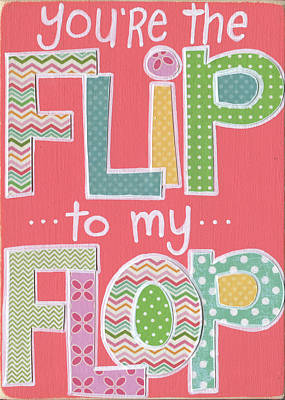 Juvenile Art Painting - Flip To My Flop by Alli Rogosich